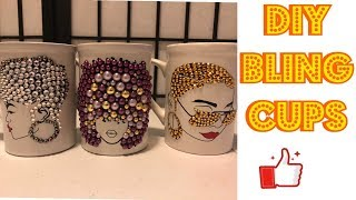 DIY Bling Coffee Mug/ Vinyl/Cricut