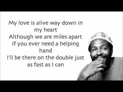 Marvin Gaye - Ain't No Mountain High Enough (Lyrics)