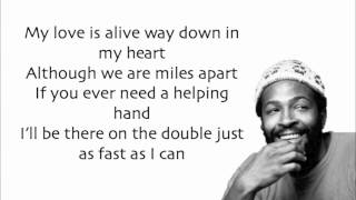 Marvin Gaye - Ain't No Mountain High Enough (Lyrics)