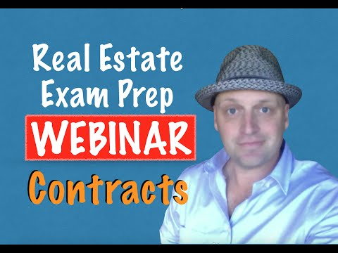 Contracts real estate exam webinar