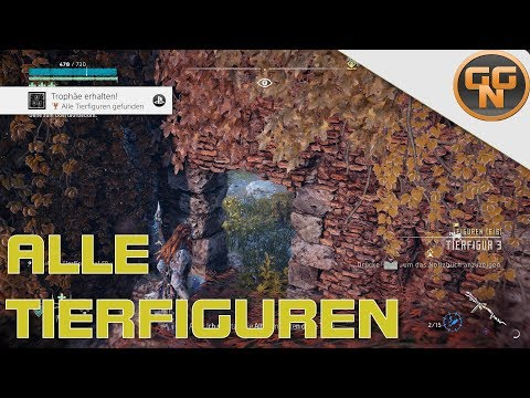 Horizon Zero Dawn Frozen Wilds: Alle Tierfiguren gefunden - All Animal Figurines found Trophy Guide