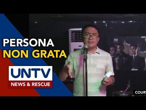 [UNTV]  Panday Sining cries human rights violation over 'persona non grata' declaration
