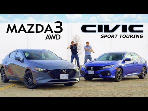 2019 Mazda 3 AWD vs Honda Civic Sport Touring // Unpacking The Hype
