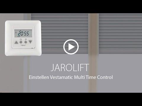 Rollladen-Zeitschaltuhr einstellen - Vestamatic Multi Time Control   JAROLIFT