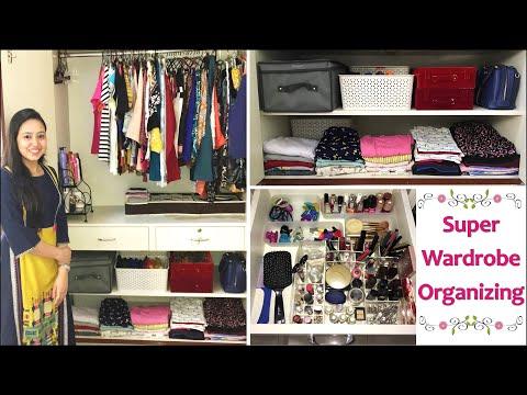 Indian Wardrobe Organization Ideas | Space Saving Ideas | Women Closet Organization Ideas