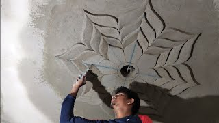 How To Make A Ceiling Flower- Ceiling Design. Sand & Cement