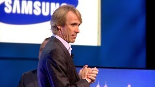 (Up-close alternate angle) Michael Bay Quits Samsung's CES Press Conference