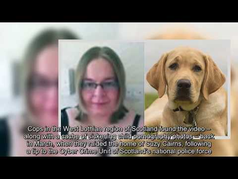 woman filming self in sex acts with pet dog, whipped cream