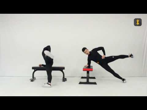 Angled Side Bridge Hip Abduction