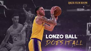 Lonzo Ball Does it All | Lakers Highlights