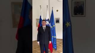 Видеообращение Чрезвычайного и Полномочного Посла Республики Словения в Российской Федерации