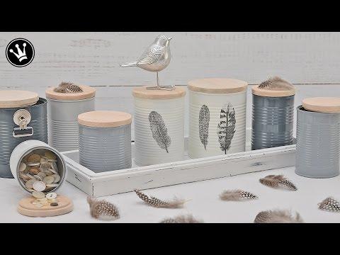 Stylische DIY Metalldosen - Deko aus der Dose