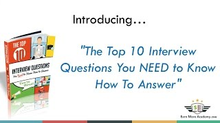 Top 10 Interview Questions You Need to Know How to Answer