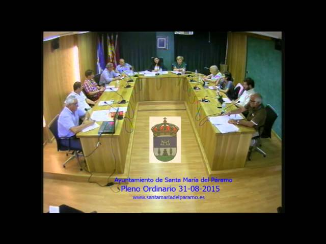 Pleno Ordinario 31-08-15