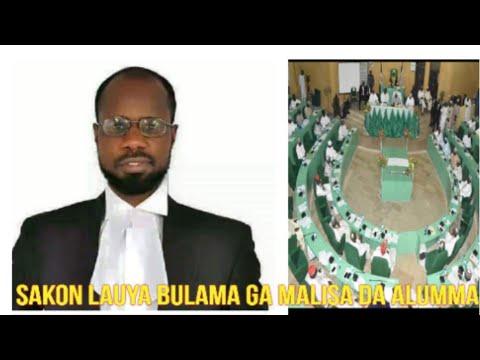 Sakon Lauya Bulama Ga Yan Majalisar Kano DA Alummar Nigeria Daga Birnin London