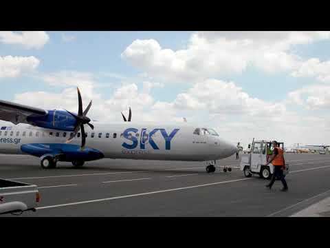 SKY express' first ATR 72-600 – painting film and take-off