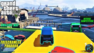 GTA V | Most Amazing Free-Crawler Parkour With RON