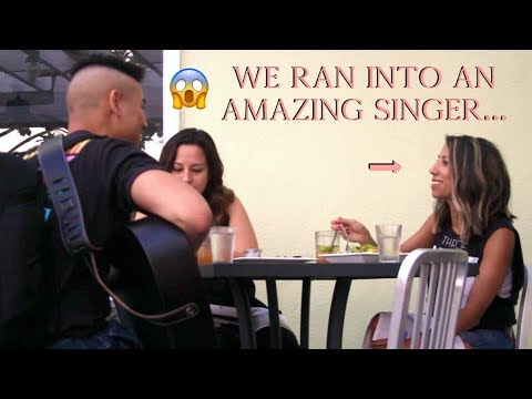 SERENADING STRANGERS PRANK! (we got a huge surprise...)