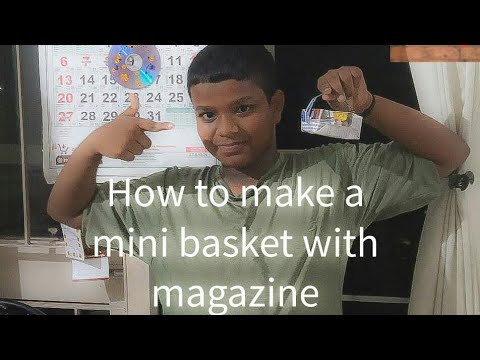 How to make a mini basket with magazine | Tech tips by Abhijith