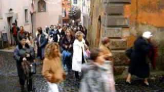 preview picture of video 'Gallese 8 dicembre Immacolata processione banda musicale borgo'