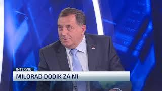 Rasprava voditeljice N1 i Milorada Dodika