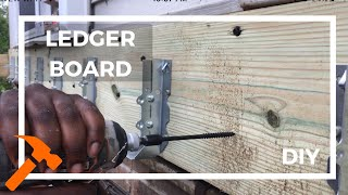 Installing Ledger Board And Starting To Build A Deck With No Previous Experience