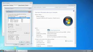 Windows 7 - Adjust the Vitual Memory Pagefile Setting - Increase Performance