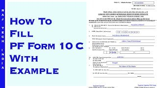 How To Fill PF Form 10 C With Example