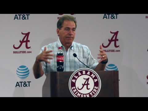 Nick Saban press conference prior to Fan Day