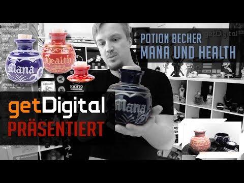Potion Becher - Mana & Health Keramikbecher - getDigital präsentiert
