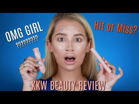 KKW BEAUTY CONTOUR AND HIGHLIGHT STICK REVIEW