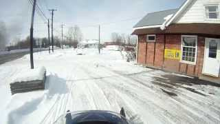 preview picture of video 'Snowmobiling - Ashville, NY to Bemus Point Golf Club, Bemus Point, NY'