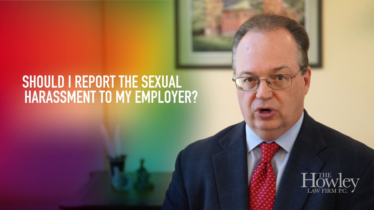 Should I Report Sexual Harassment to My Employer?