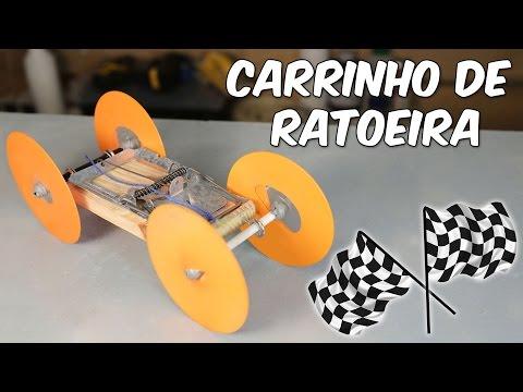 Carrinho c/motor de ratoeira