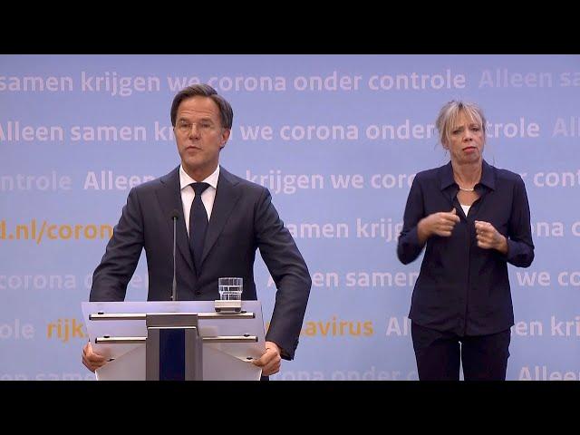 Video Uitspraak van persconferentie in Nederlandse
