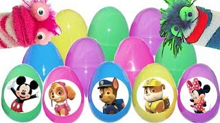 Fizzy Teaches Phoebe with Colorful Paw Patrol Eggs