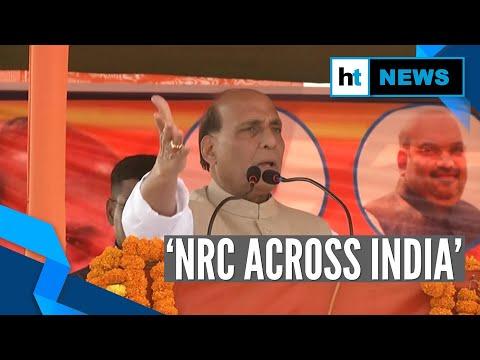 'We'll implement NRC across India': Rajnath Singh