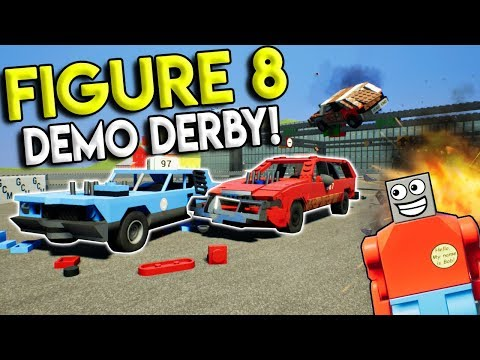 LEGO FIGURE 8 DEMO DERBY RACE! –  Brick Rigs Multiplayer Challenge Gameplay – Lego Races & Crashes