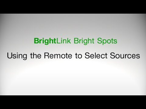 How To: Select Image Sources Using the Remote Control