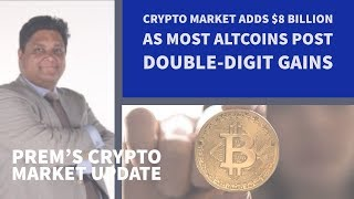 Crypto Market Adds $8 Billion as Most Altcoins Post Double-Digit Gains