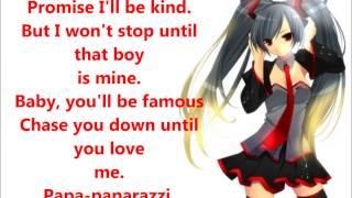 Nightcore - Paparazzi (Lyrics)