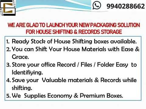 House Shifting Boxes Economy