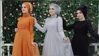 كوليكشن رائع  #فساتين_للمحجبات #Tesettür_Elbise Abiye Modelleri 10⭐Turkish Hijab Dresses Styles 10 ⭐