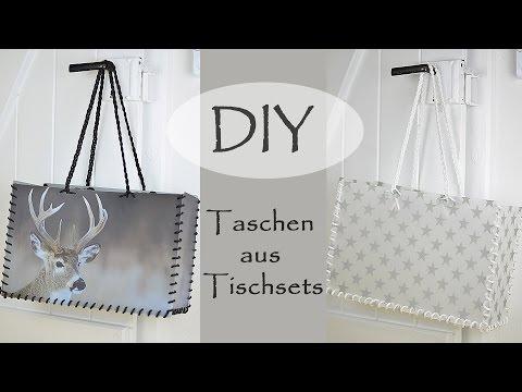 DIY Tasche aus Tischsets - Stylisch und abwaschbar