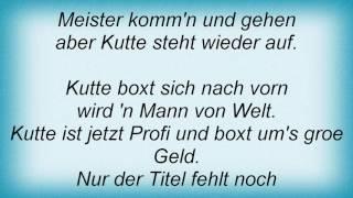 Achim Reichel - Boxer Kutte Lyrics