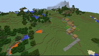 Minecraft lava pool village seed 1.8.8 with flower forests