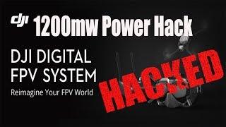 DJI Digital FPV System 1200mw Power Hack - Tutorial
