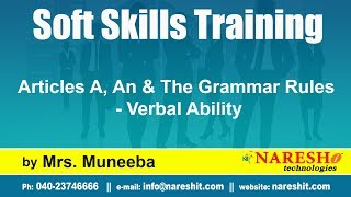 Articles A, An & The Grammar Rules - Verbal Ability   Soft Skills Training