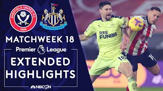 Sheffield United v. Newcastle | PREMIER LEAGUE HIGHLIGHTS | 1/12/2021 | NBC Sports