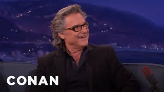 A Hungover Kurt Russell Wooed Goldie Hawn | CONAN on TBS